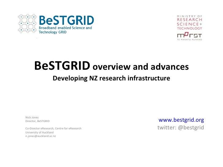 BeSTGRID OpenGridForum 29 GIN Session