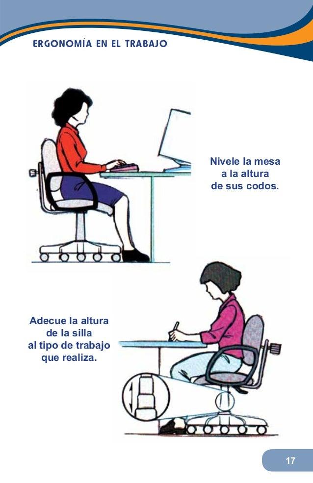 Medidas de ergonomia en el trabajo for Ergonomia en el puesto de trabajo
