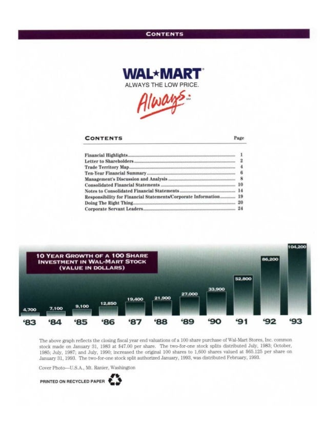 Will Wal-Mart Do a Stock Split in 2018?