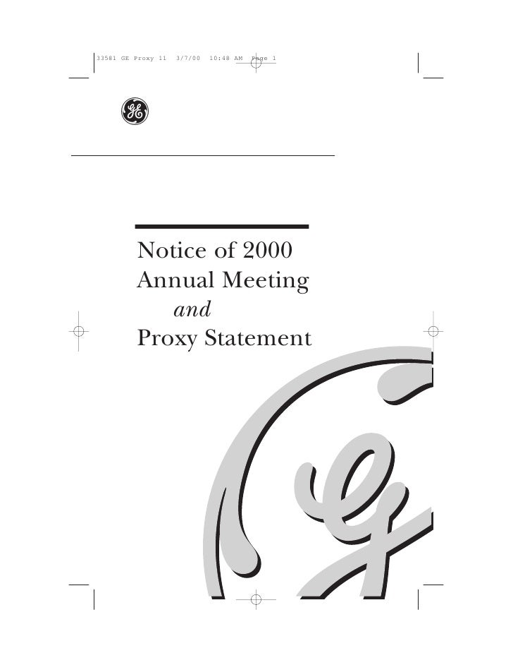 g   Notice of 2000 Annual Meeting    and Proxy Statement