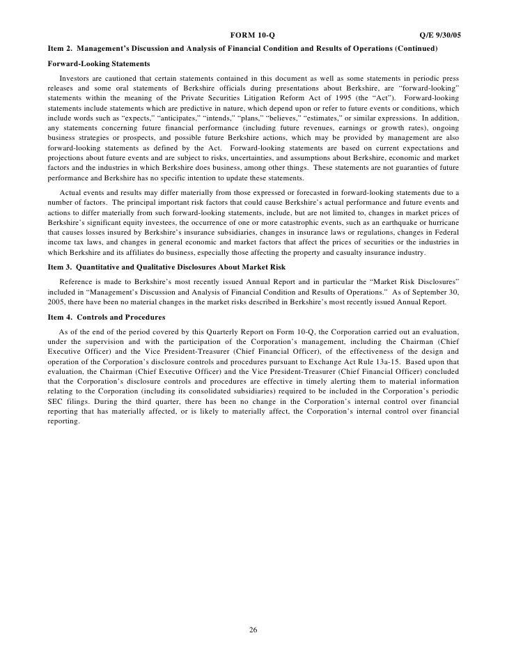BERKSHIRE HATHAWAY INC Annual & Interim Reports2005 3rd