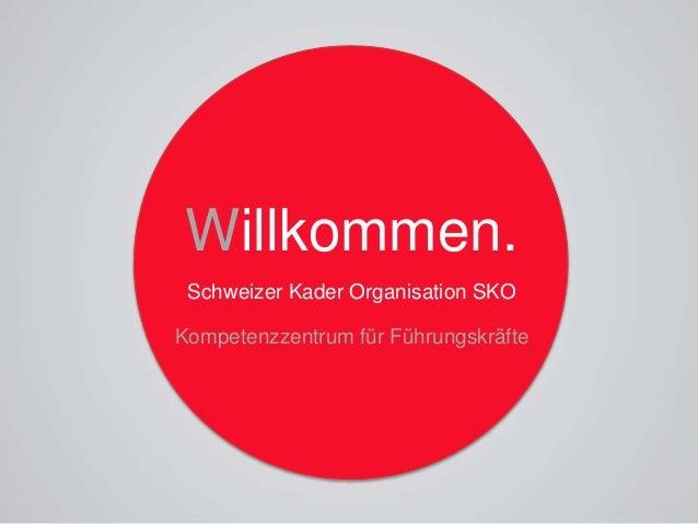 Willkommen. Schweizer Kader Organisation SKO Kompetenzzentrum für Führungskräfte