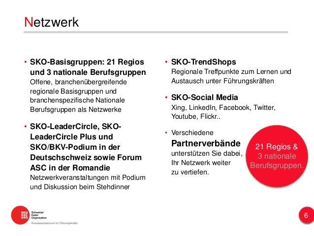 • SKO-TrendShops Regionale Treffpunkte zum Lernen und Austausch unter Führungskräften • SKO-Social Media Xing, LinkedIn, F...