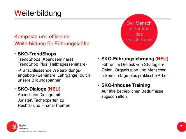 Kompakte und effiziente Weiterbildung für Führungskräfte • SKO-TrendShops TrendShops (Abendseminare) TrendShop Plus (Halbt...