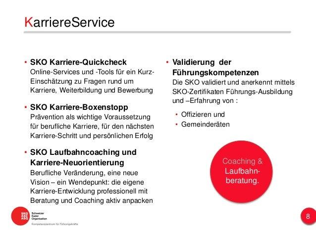 KarriereService • SKO Karriere-Quickcheck Online-Services und -Tools für ein Kurz- Einschätzung zu Fragen rund um Karriere...