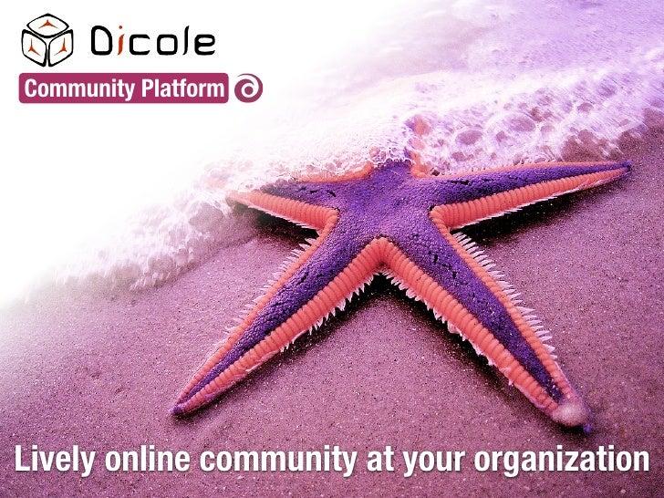 Community Platform     Lively online community at your organization