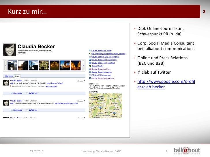 Vorlesung BAW - Social Media Tools Slide 2