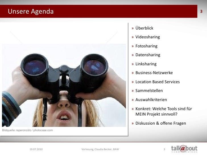 Vorlesung BAW - Social Media Tools Slide 3