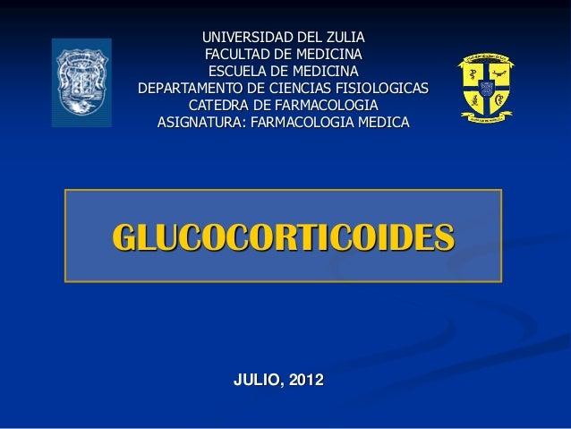 UNIVERSIDAD DEL ZULIA FACULTAD DE MEDICINA ESCUELA DE MEDICINA DEPARTAMENTO DE CIENCIAS FISIOLOGICAS CATEDRA DE FARMACOLOG...