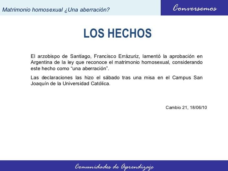 Matrimonio Universidad Catolica : Dichos de cardenal errázuriz matrimonio homosexual una