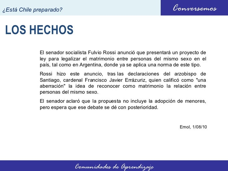 No al matrimonio homosexual en chile
