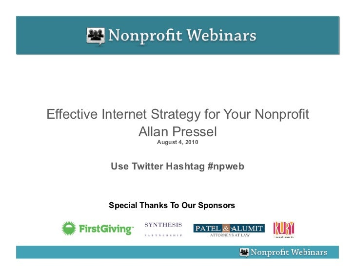Effective Internet Strategy For Your Nonprofit