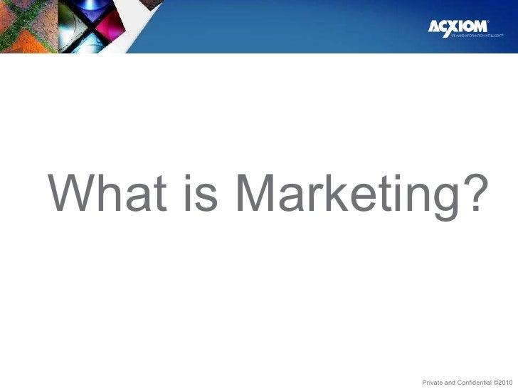 <ul><li>What is Marketing? </li></ul>