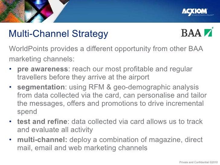 Multi-Channel Strategy <ul><li>WorldPoints provides a different opportunity from other BAA </li></ul><ul><li>marketing cha...
