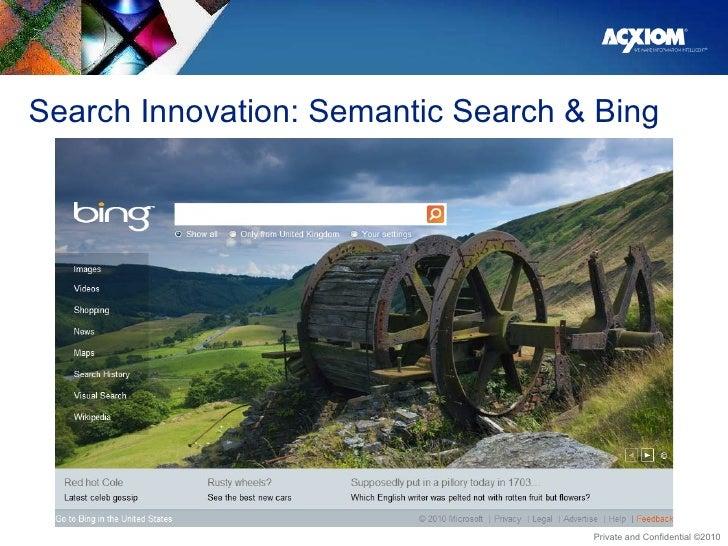 Search Innovation: Semantic Search & Bing