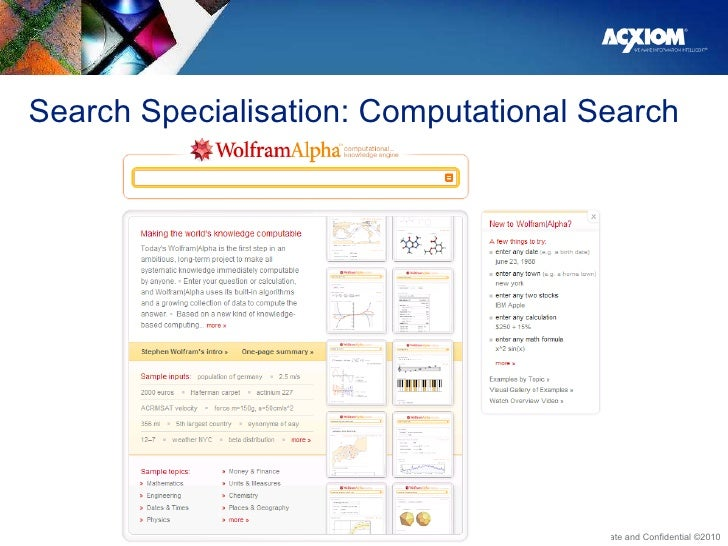 Search Specialisation: Computational Search