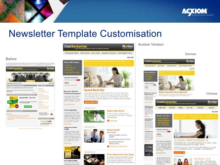 Newsletter Template Customisation GUCCI | GLOBAL ECARD RFP Before Acxiom Version German Chinese