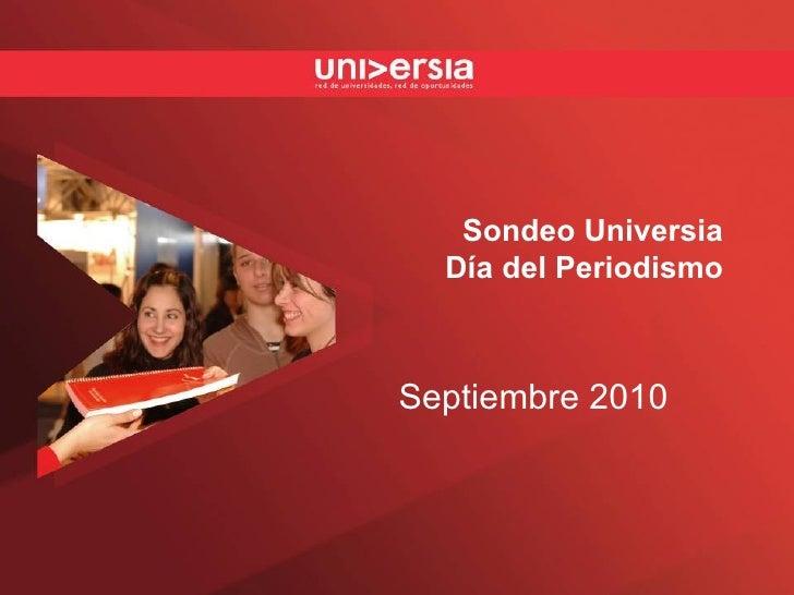 Sondeo Universia Día del Periodismo Septiembre 2010