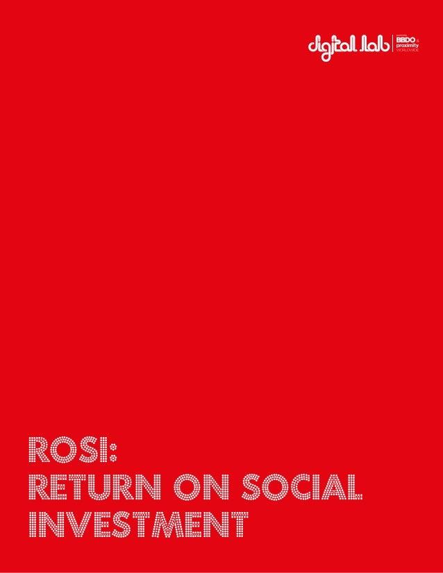1 ROSI: Return on Social Investment