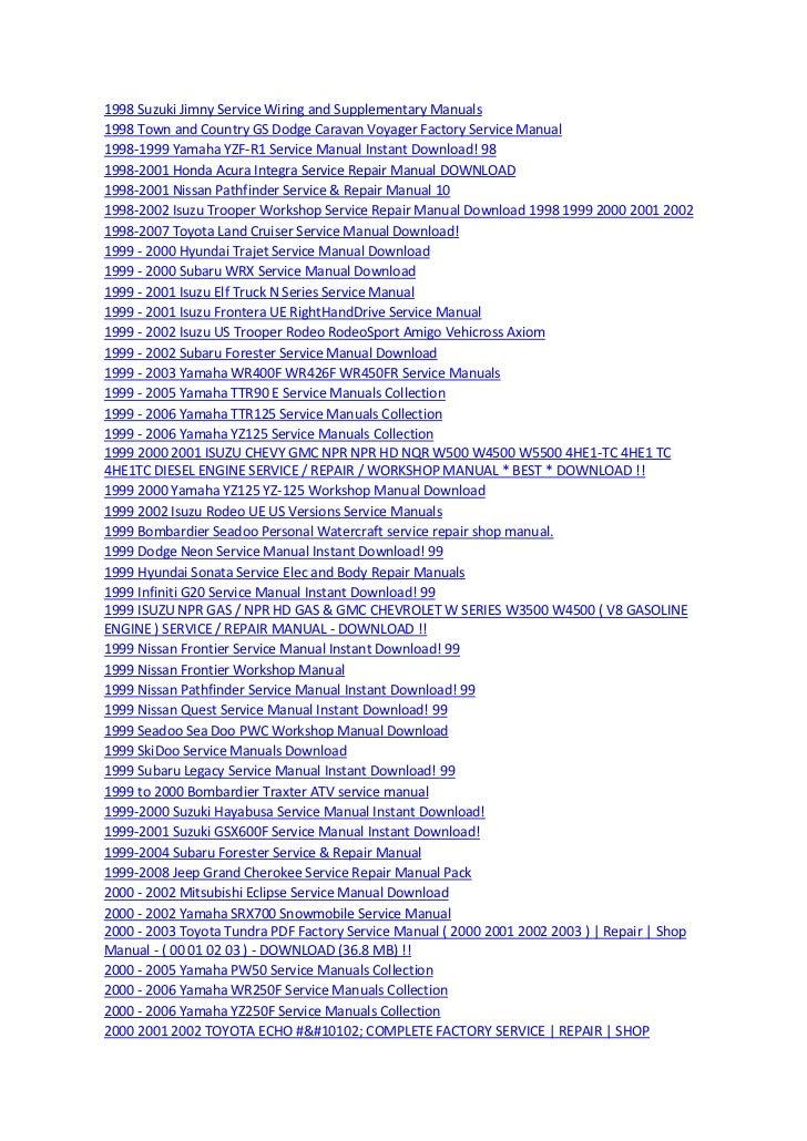 1008 Manuals 23032012 - Repair Wiring Scheme