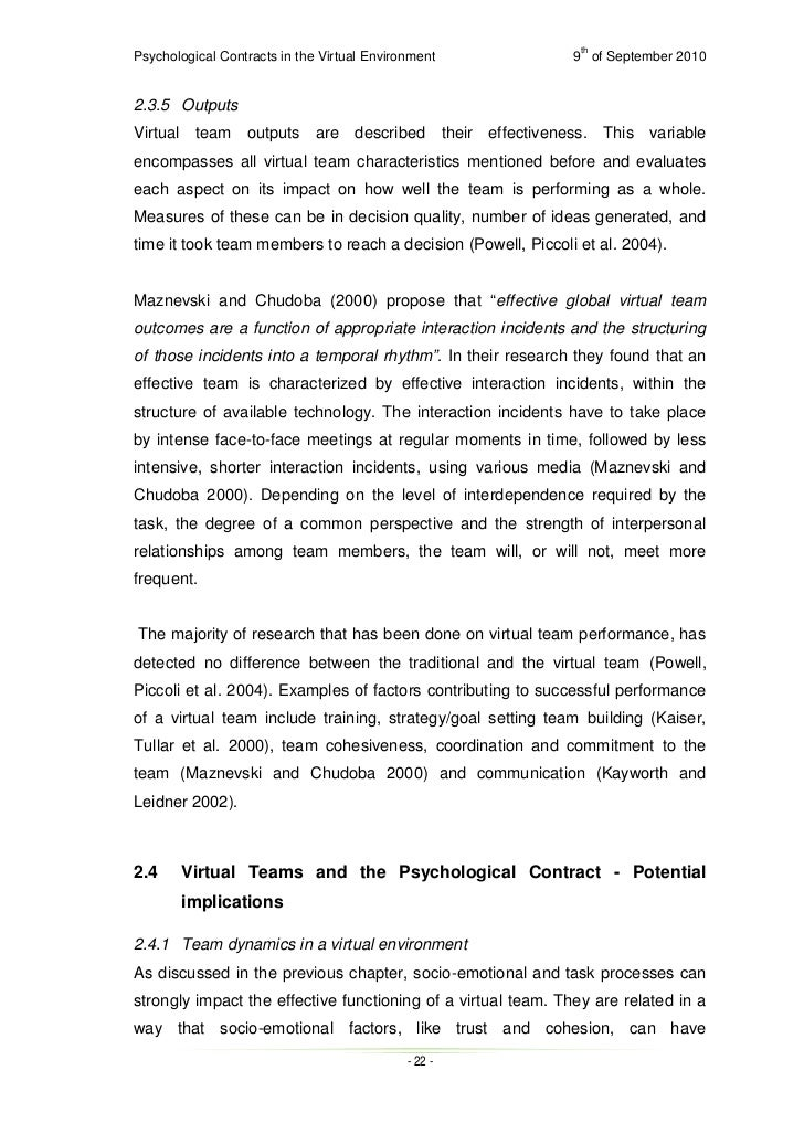 thesis on psychological contract Investigating the dynamics of the psychological contract: how and why individuals' contract beliefs change a thesis submitted in fulfilment of the requirements for the degree of doctor of philosophy.