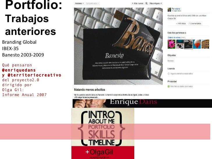 Branding Global  IBEX-35 Banesto 2003-2009 Qué pensaron  @enriquedans y @territoriocreativo del proyecto2.0  dirigido por ...