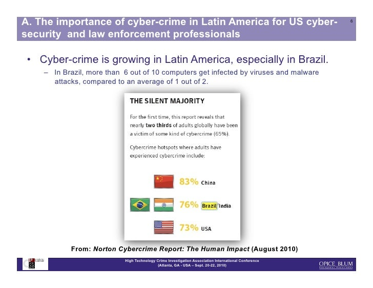 cyber crime in america Spurred growth has opened up latin america to cybercriminal activities originating from and operating in the region especially in brazil.