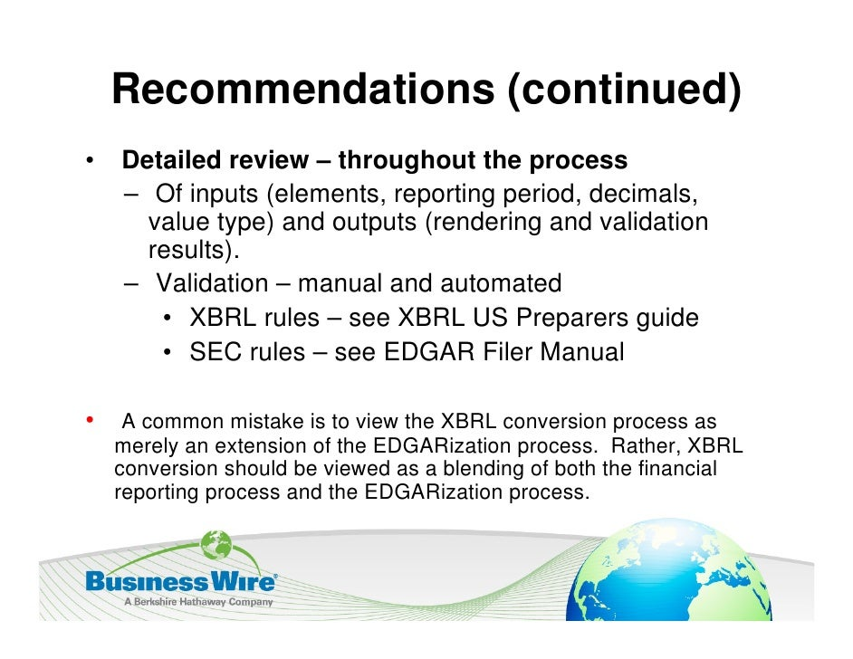 eXtensible Business Reporting Language - XBRL