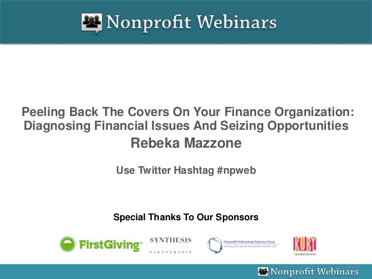 Peeling Back The Covers On Your Finance Organization: Diagnosing Financial Issues And Seizing Opportunities               ...