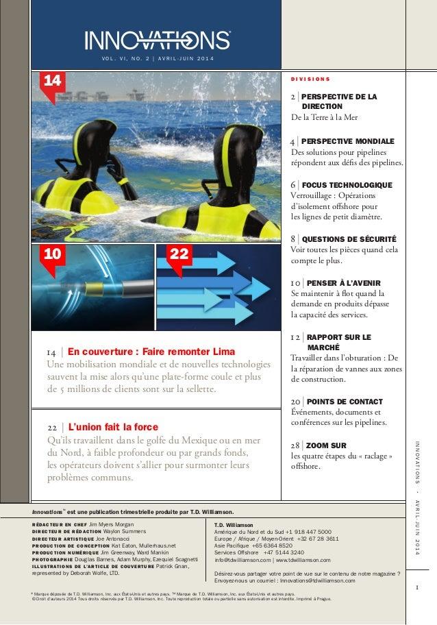 Innovations™ Magazine April - June 2014 French Slide 3
