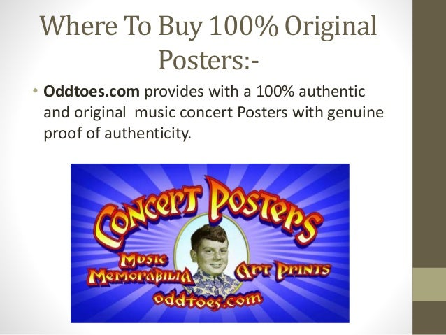 100% Authentic Famous Music Concert Posters