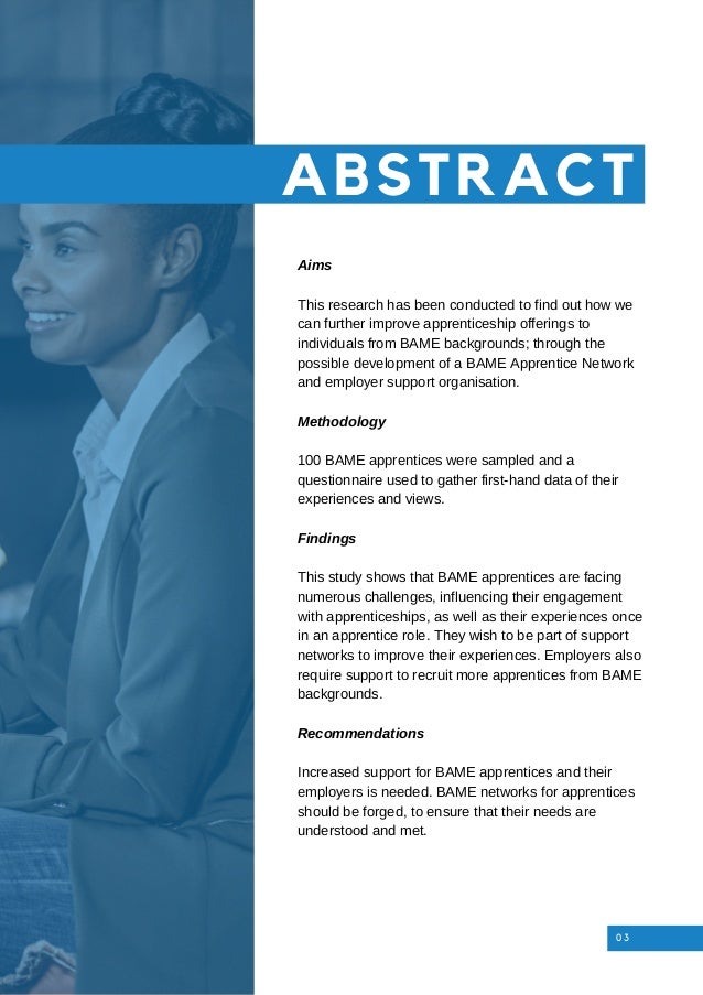 Aims This research has been conducted to find out how we can further improve apprenticeship offerings to individuals from ...
