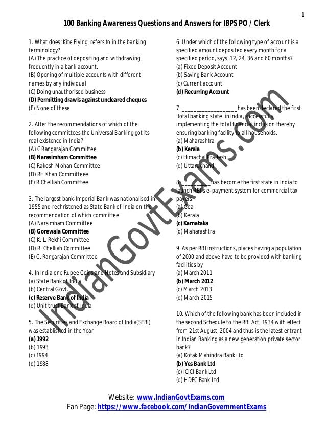 IBPS PO MODEL PAPERS WITH ANSWERS EPUB