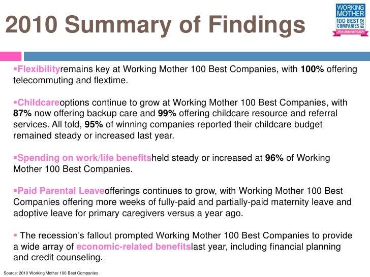 100 best companies executive summary – Best Executive Summary