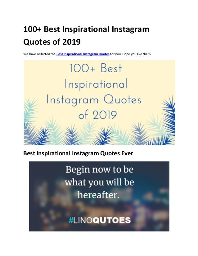 100+ best inspirational instagram quotes of 2019