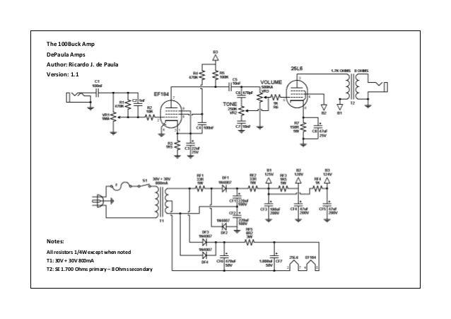 Amplificador Valvulado de 100 pratas.
