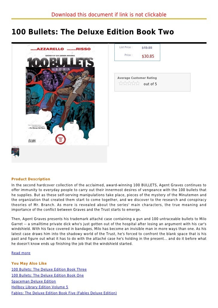 Download this document if link is not clickable100 Bullets: The Deluxe Edition Book Two                                   ...