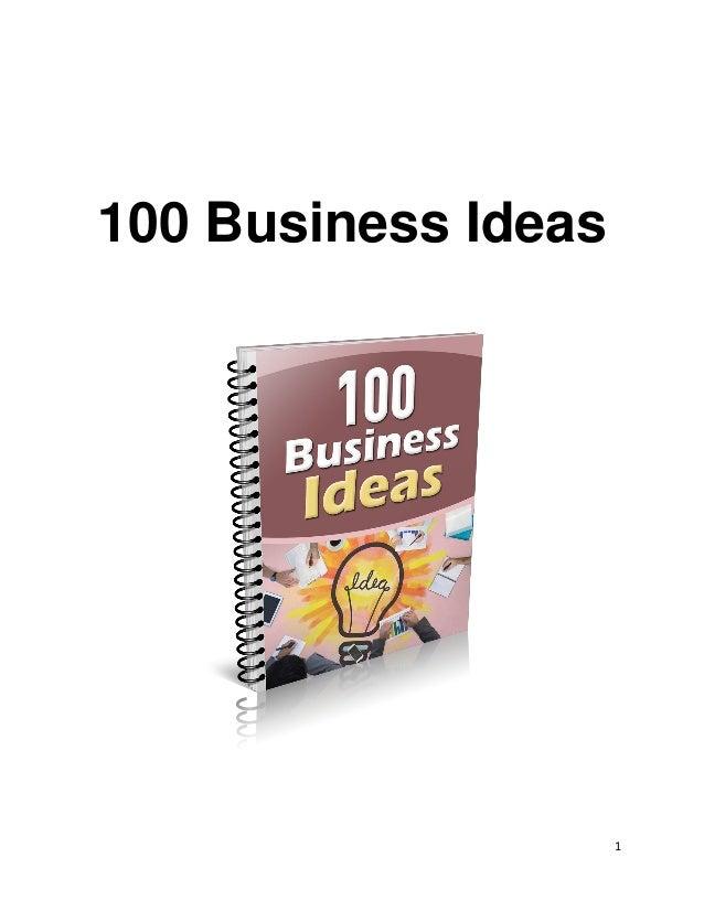 100 BUSINESS IDEAS PDF DOWNLOAD