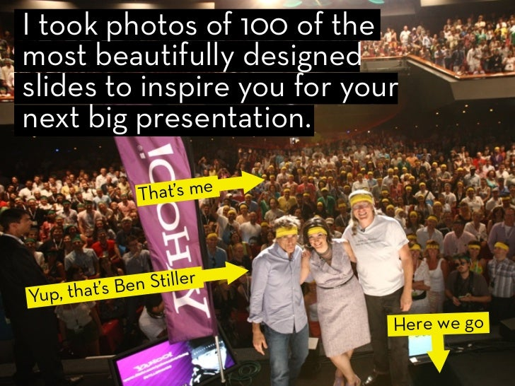 I took photos of 100 of the most beautifully designed slides to inspire you for your next big presentation.               ...