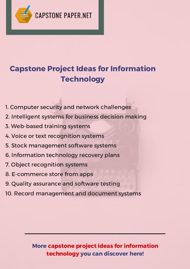 capstone project management