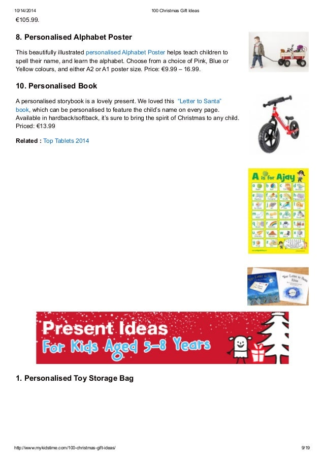 100 Christmas Gift Ideas for the whole Family
