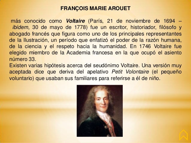 a biography of francois marie arouet de voltaire François-marie d'arouet was an important feature of voltaire's biography but voltaire also contributed to philosophical de voltaire, edited by theodore.