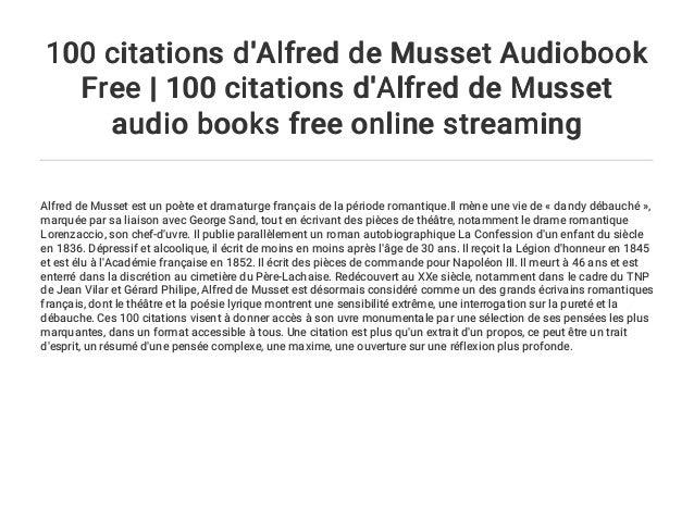 100 Citations D Alfred De Musset Audiobook Free 100 Citations D Alf