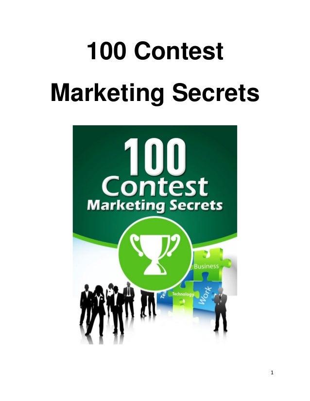 1 100 Contest Marketing Secrets