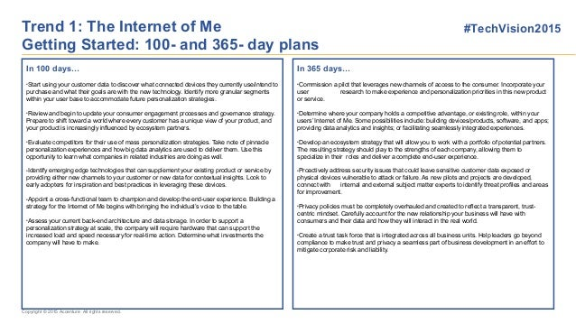 100 day plan - Technology Vision Australian Perspective