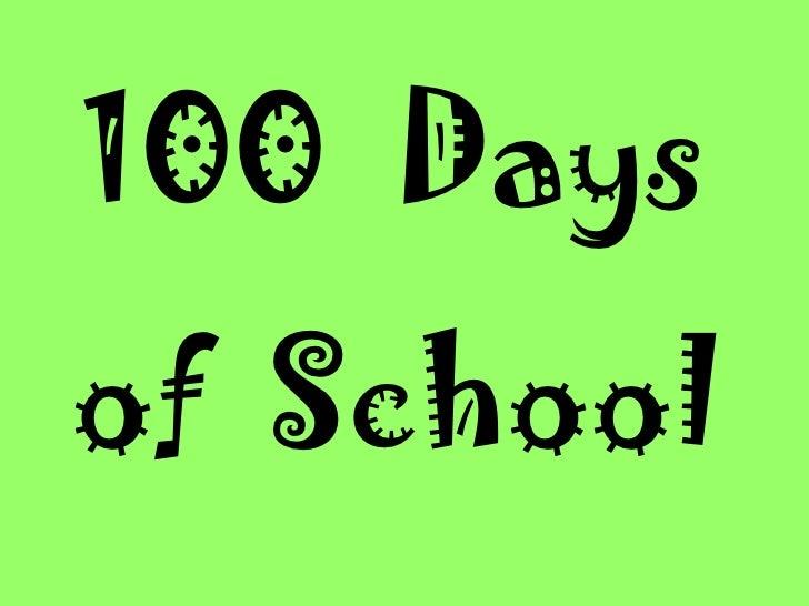 100 Daysof School