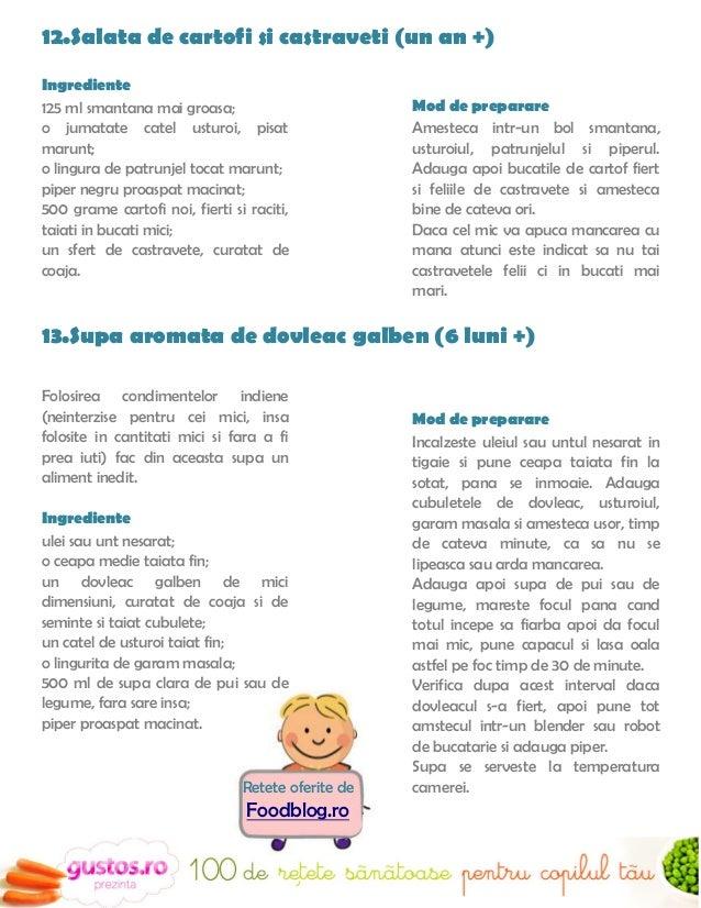 14.Supa crema de dovlecei (de la 8 luni)                         Retete oferite deIngrediente:                            ...