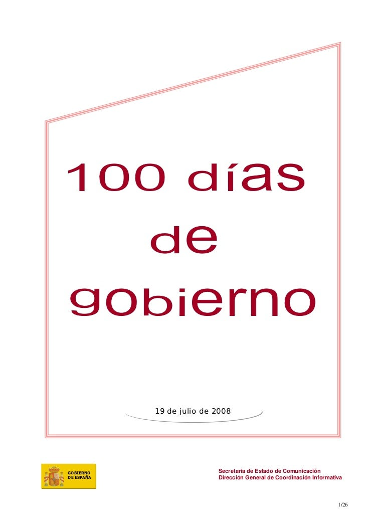 19 de julio de 2008     GOBIERNO                   Secretaria de Estado de Comunicación DE ESPAÑA                  Direcci...