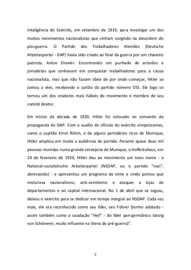 5 Inteligência do Exército, em setembro de 1919, para investigar um dos muitos movimentos nacionalistas que vinham surgind...
