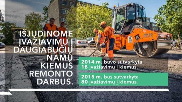 """"""" 2014 miįíloääíijįl    i AKIEMUS šr18jvažiavimųįkiemus.   s   2015 m.  bus sutvarkyta į   80 ivaziavimų Į kiemus."""